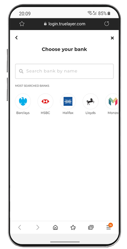 Sync your bank
